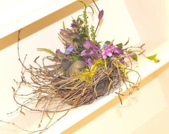 Robin Flower Bird Nest