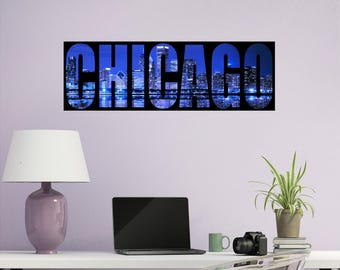 Chicago Silhouette Etsy - Custom vinyl decals chicago