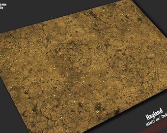 Battle mat: Hagland -  scenery for 28mm scale miniature sci-fi wargames - Warhammer, Warmachine, Infinity, Malifaux