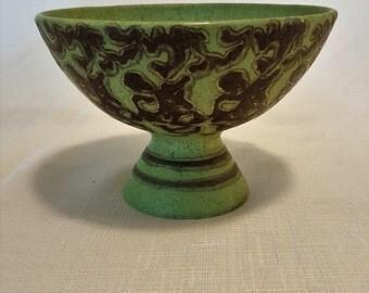 Green saucer vase/base
