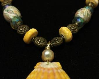 Sunrise Shell Pendant Necklace