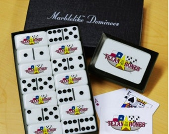 Texan Bones Dominoes & Playing Cards Gift Set