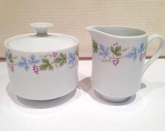 Mikasa Sugar Bowl and Creamer, Tokay Floral Design, Fine China Set