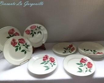 HBCM Vernon earthenware dinner plates