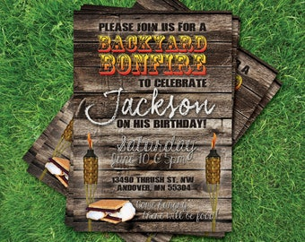 Backyard Bonfire Invitation