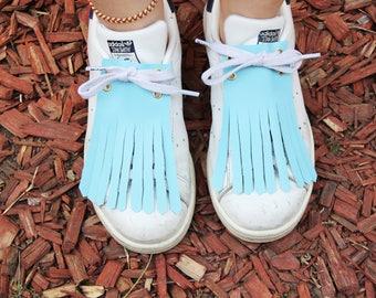 "Mexican fringe for ""Sky"" model basketball / blue fashion shoe"