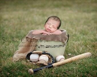 digital backdrop  background newborn baby girl or boy baseball