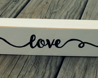 Shelf Sitter, Black & White, Love, Country, Farmhouse