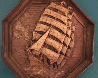 Carved Wooden Boat Etsy
