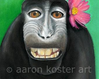 Gorilla art, Gorilla painting, Apes, Monkey motif, Jungle animals, Macaque ape, Jungle art, endangered animals