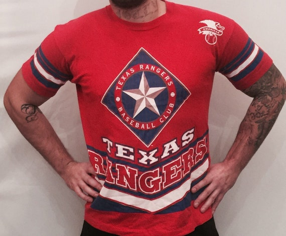 EV 114 red t-shirt texas rangers