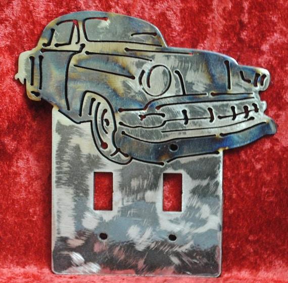 54 Chevy Bel Air Sedan Double Light Switch Cover, Light Switch Cover, 1954 Auto Memorabilia, 1954 Automobile, Man Cave Decor, Automotive Art