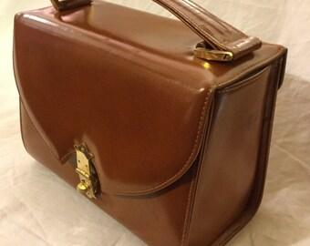 1960's leather box bag
