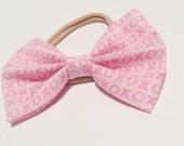 Valentines bow headband or 2 mini bow on mini hair clips