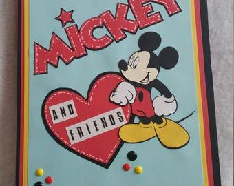 Scrapbook/ Brag book Mickey mouse photo album