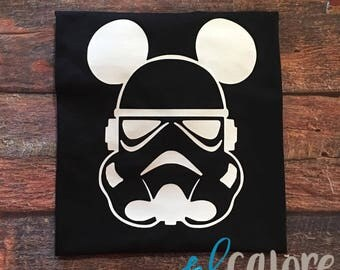 Kids Mickey Mouse Storm Trooper | Disney Shirt | Disney Vacation | Star Wars | Storm Trooper | Disney Star Wars | Kid Tee | Star Wars Shirt