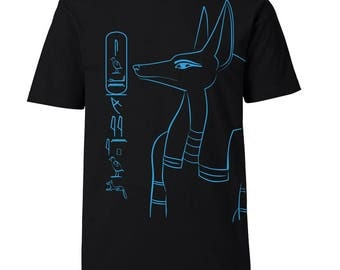 Egypt Men's T-Shirt Anubis - personalized with your name in hieroglyphs