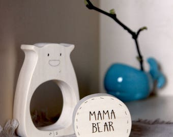 Sale, Mothers day, Wooden stacking toy, Wood puzzle, Wooden toys, Toddler toy, Eco-friendly, Waldorf, Mama bear