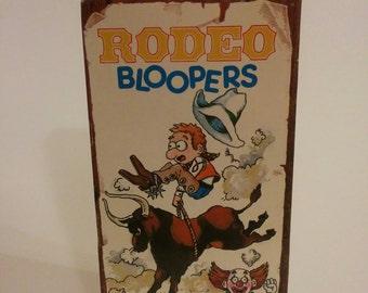 Vintage Rodeo Bloopers VHS Video Novelty Cowboy Western Video 1990