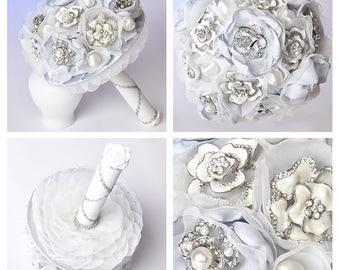 Wedding brooch bouquet; Dream bridal bouquet, Jewelry bouquet,READY TO SHIP