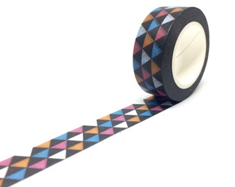 Multicolour Triangle Geometric Washi Tape