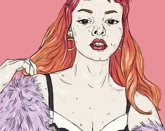 Paloma Smith (octoplum) Illustration Art Print A4
