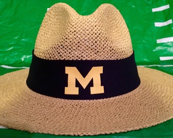 Michigan Wolverines straw hat