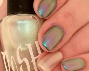 "Unique ""Atlantic Tide"" Chameleon Color Shifting Purplish Red, Blue, Green Opal Nail Polish Full Size 15ml Bottle"