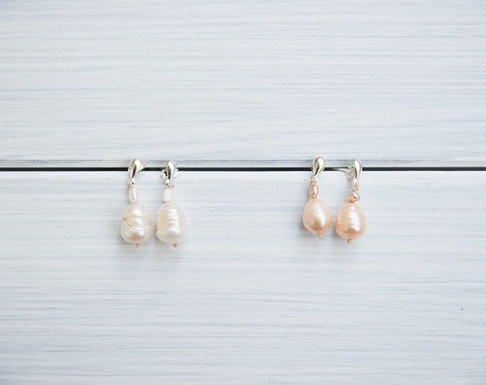 Freshwater pearls earrings, 20's inspired - gifts for her /