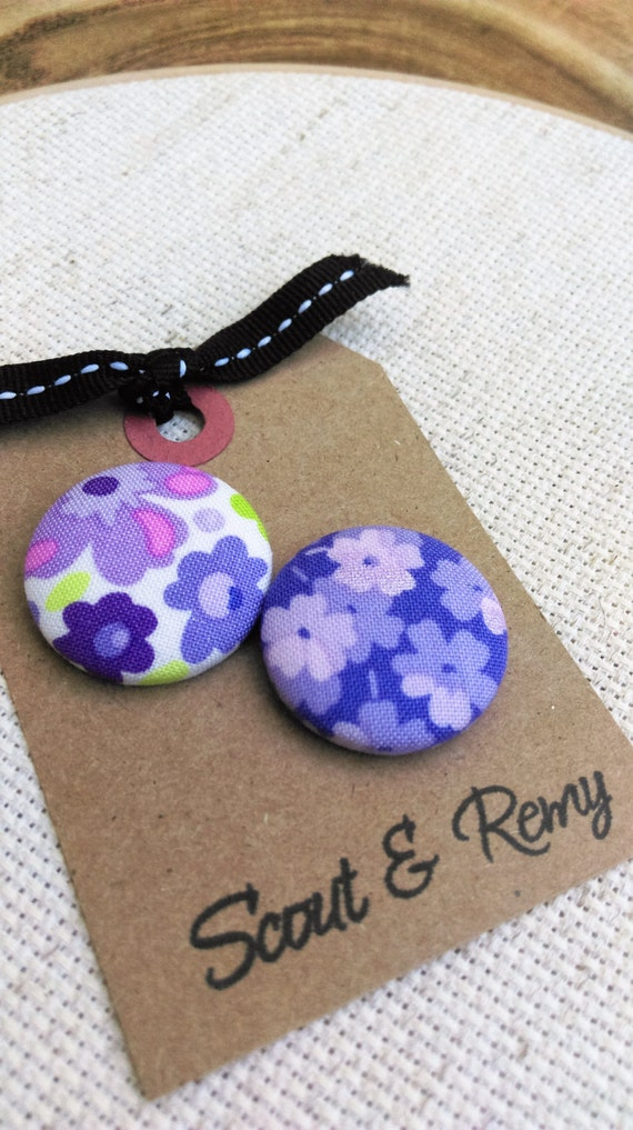 Purple Floral Needle Minder 2 in 1 Reversible