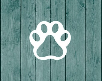 Paw print Decal - Pet Decal - Dog Decal - Car Decal - Vinyl Decal - Laptop Decal - Cup Decal - Window Decal