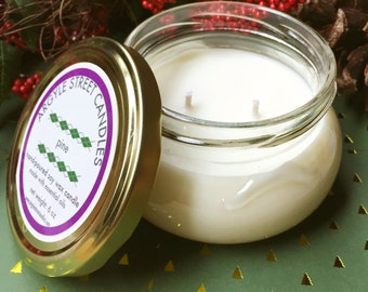 Soy Candle Essential Oil Pine Tureen Glass Container Candle Handmade