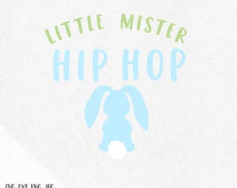 Little mister hip hop svg, easter svg, Easter Bunny svg, Bunny svg, spring svg, bunny face svg, easter bunny face svg, rabbit svg, dxf