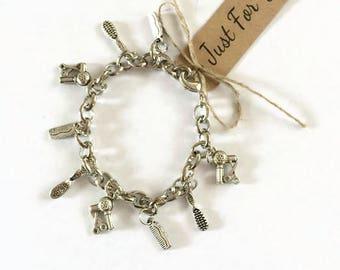 Hairdressers Gift Charm Bracelet