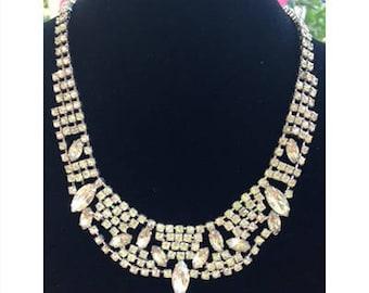 Vintage Continental Rhinestone Necklace/Choker