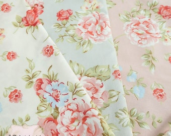 Powder Pink Peony Floral Cotton Fabric Pink Peony Floral Fabric Sewing Fabric Floral Summer Fabric 100% Cotton Fabric For Craft