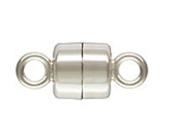 4mm Sterling Silver Magnetic Clasp - 2 pcs.