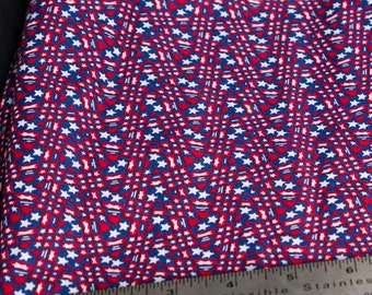 Red, White and Blue stars cotton fabric - 4 yards