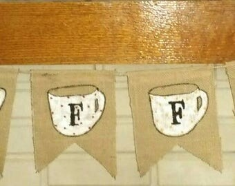 Coffee Banner - Burlap Banner - Java Banner - Coffee Banner - Handmade Banner - Home Decorating