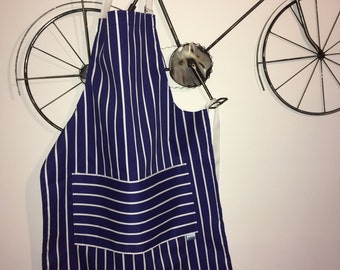 Chefs apron, BBQ, 'Blue stripe' part of our 'Premium Chefs' range