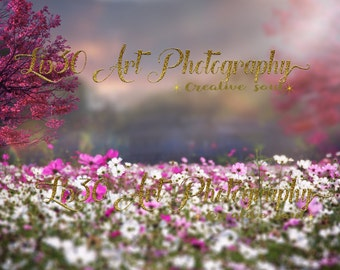 Spring digital background/ digital backdrop