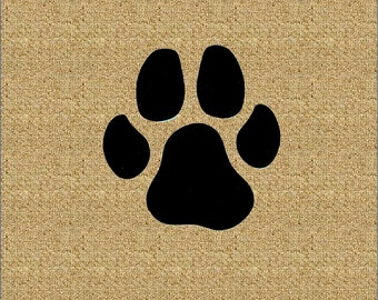 Dog Paw Print Iron On Applique Patch, Dog Paw Patch, Canine Accent, Doggie Motif, Dog Footprint