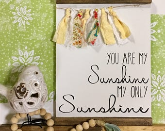 You Are My Sunshine | Sunshine Sign | You Are My Sunshine My Only Sunshine | You Are My Sunshine Wall Art
