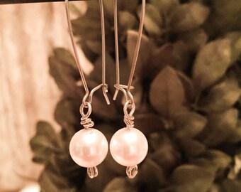 Beautiful Pearl Drop Earrings