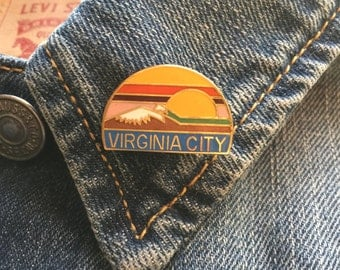 Vintage Virginia City enamel pin lapel hat brooch (stock #210)