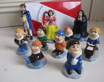 Wade Full Set - Snow White and the Seven Dwarfs - Plus Wicked Witch and Prince Charming