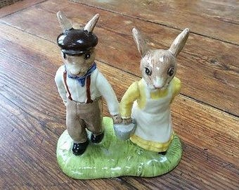 Royal Doulton Bunnykins Jack and Jill - Unboxed - Great Condition
