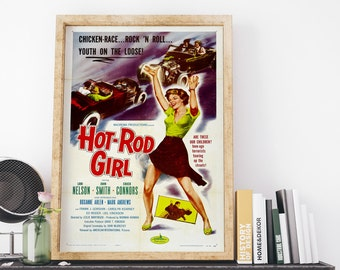 Hot Rod Gang 1958 Vintage USA Movie Poster Art Print