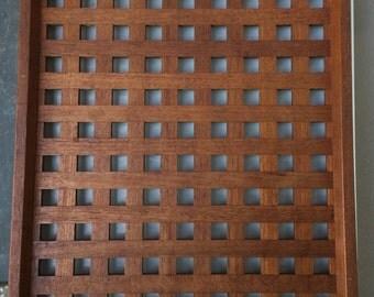 Dansk Basket Weave Teak Tray