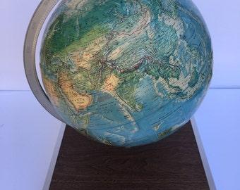 Rand Mcnally Globe with Atlas sleeve 1965